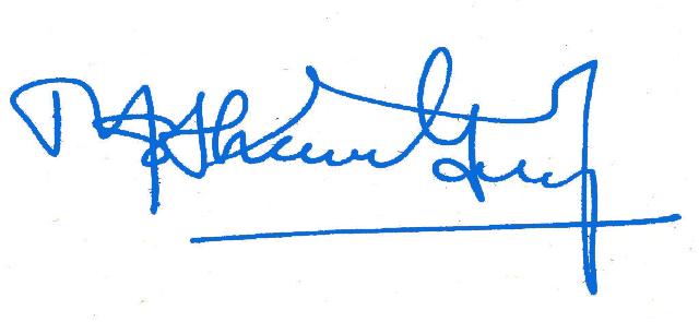 GS Signature (Blue Color)